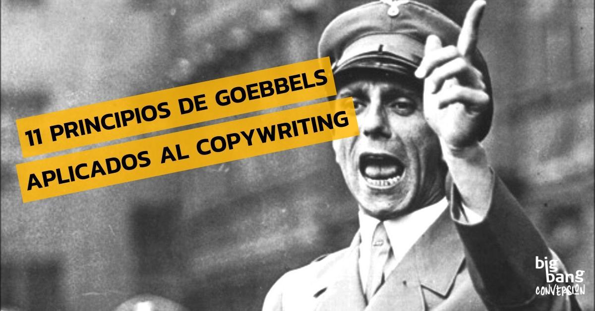 Principios de Goebbels y Copywriting