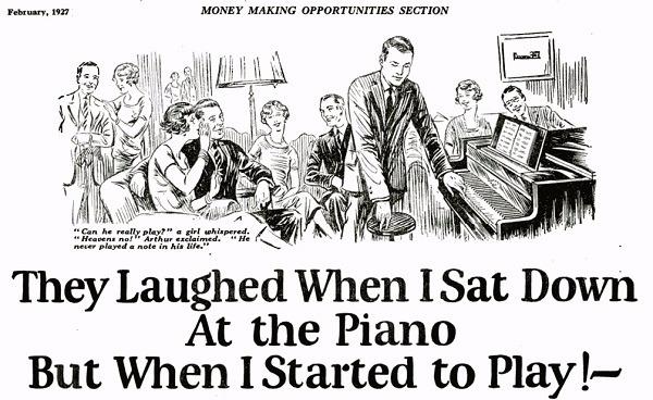 Anuncio Piano John Caples