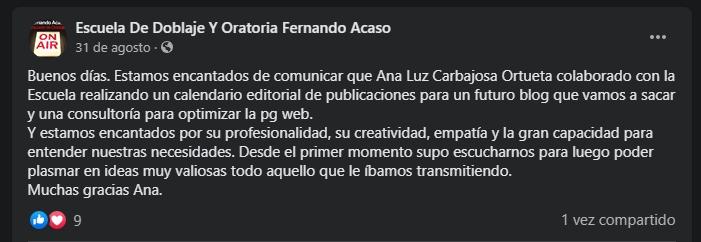 Reseña Ana Luz