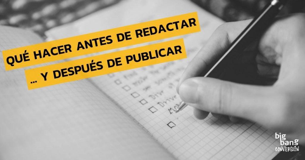 Qué hacer antes y después de publicar post