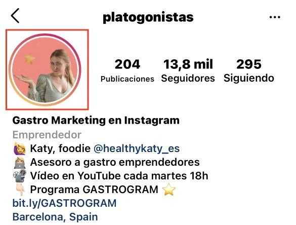 Bio del Instagram de Platogonistas