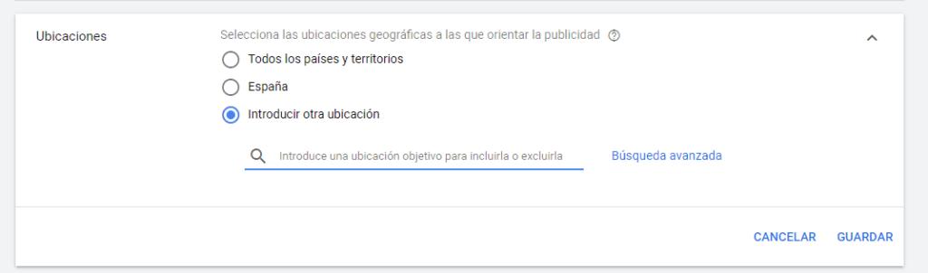 Cómo introducir ubicaciones específicas en Youtube Ads