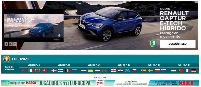 Ejemplo de anuncio de display en una web