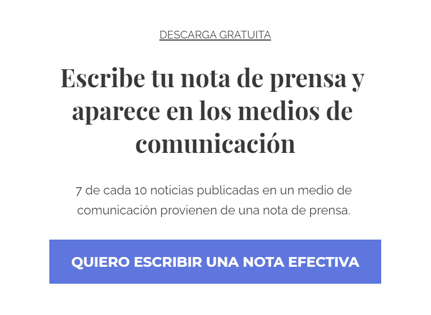 Guía rápida para escribir una nota de prensa, de Eli Romero Comunicación