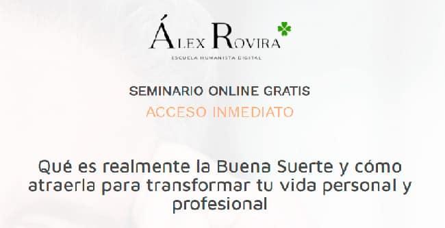 Crea tu Buena Suerte, de Álex Rovira.
