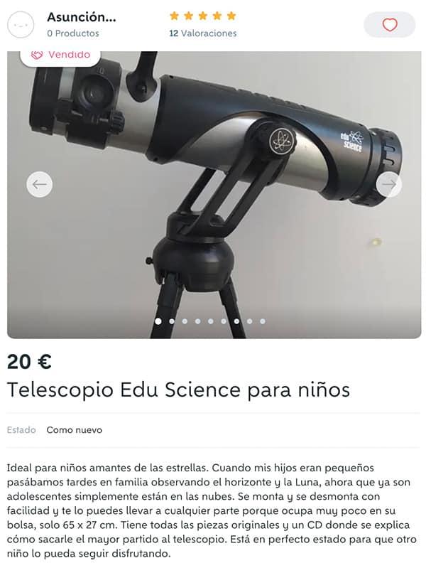 vent segunda mano telescopio